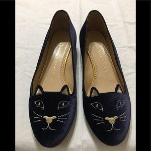 Charlotte Olympia Kitty Flats Size 40